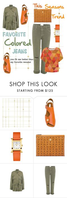 This Seasons Trend by mdfletch on Polyvore featuring Current/Elliott, STELLA McCARTNEY, MCM, Hermès, Tempaper and seasonstrend