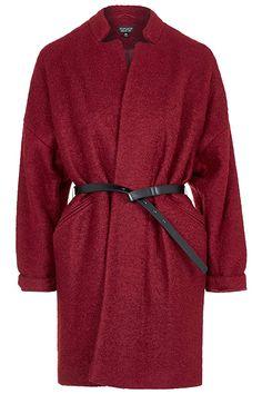 Belted Wool Blend Coat, £89 | Topshop