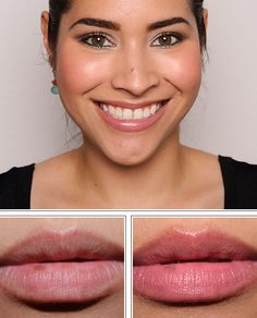 """MAC Cremesheen Lipstick in Peach Blossom  described by MAC as a """"frosted cool nude"""". Can be considered more of a mid-tone nude pink. It's almost a my-lips-but-better shade, but with a bit more pink. A very safe and wearable shade."""