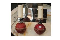 Cricket Ball candle holders   Decorex 2013
