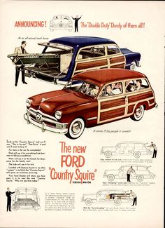 Vintage Ford  Country Squire Ad - 1950