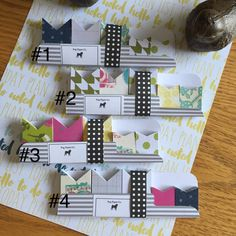Handmade Designer Page Flags / Planner / Erin by PugPaperCo