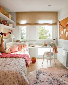 Teen Girl Bedrooms for sweet cozy room decor - A dazzling and spectacular variety of ideas. Post number 6642262428 created on this day 20191125 Girl Room, Room Colors, Small Room Bedroom, Colorful Kids Room, Home, Bedroom Design, Small Bedroom, Home Decor, Room