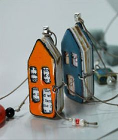 Itsy Bitsy Enameled Journal Necklace by Jean Van...