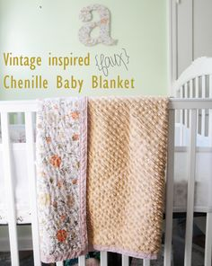 Opal and Rouge:  Chenille Baby Blanket DIY