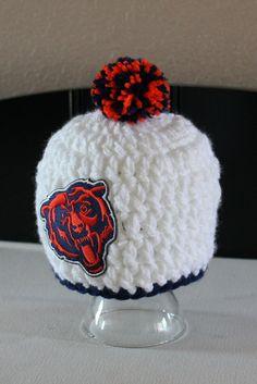 Chicago Bears Hat by ThatGirlsCrafts on Etsy Ahhhhhhhhhhhh!