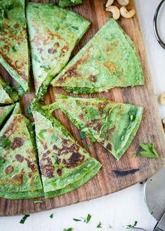 These Green Goddess Quesadillas Are Dinner Goals #vegetarian #vegetarianfood #greengoddess #quesadilla #healthyrecipes