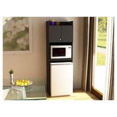 Clarkson Mini Refrigerator Storage Cabinet - Black - Ameriwood Home