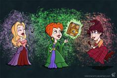 The Sanderson Sisters by *NikkiWardArt on deviantART