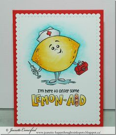 Happy Thoughts & Inkspots: Whimsy Stamps Lemon-Aid + Video