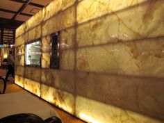 Back Lit Agate Wall