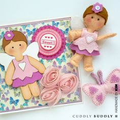 "Kim's Free Digital Felt Pattern - 4"" Bendy Felt Fairy - http://cuddlybuddly.com/shop/v21540-kims-digital-felt-pattern-bendy-felt-fairy/"