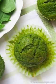 Popeye Muffins - Brilliant sweet green muffins made with spinach but without a spinach-y taste.