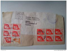 1945-1992 Socialist Federal Republic of Yugoslavia - YUGOSLAVIA JUGOSLAVIA 1968 0.30 DIN PRESIDENT MARSHAL TITO RECOMMENDET PACKAGE-LETTRE STAMP ON PAPER COVER NICE-...