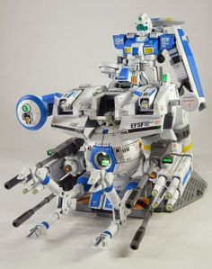 Mobile Suit Gundam - HGUC 1/144 GM & Ball EWAC System - Custom Build