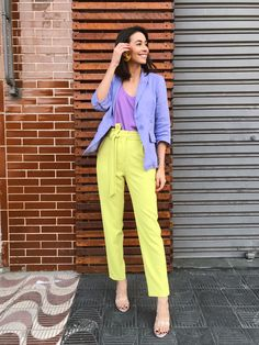 New season styling tips to take from Stockholm Fashion Week Colour Combinations Fashion, Color Combinations For Clothes, Fashion Colours, Colorful Fashion, Color Blocking Outfits, Pastel Outfit, Spring Summer Fashion, Spring Outfits, Casual Outfits