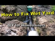 French Drain work best with surface water collection. The french drain collects subsurface water and the catch basins collect surface. Backyard Drainage, Drainage Ditch, Drainage Pipe, Drainage Solutions, Water Solutions, French Drain Diy, French Drain Installation, Sloped Yard, Water Collection