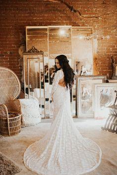V-neck Sheath Lace Wedding Dresses with Sleeves Viniodress Mermaid Wedding Dress With Sleeves, Lace Wedding Dress With Sleeves, V Neck Wedding Dress, Country Wedding Dresses, Formal Dresses For Weddings, Bohemian Wedding Dresses, Sweet 15 Dresses, Elegant Ball Gowns, Loft Wedding