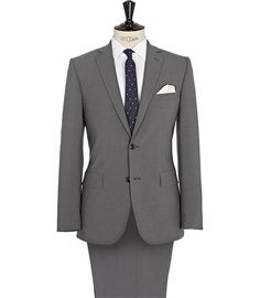 Reiss Ark Modern Two Button Suit Grey Basic Style, My Style, Single Men, Clothing Items, Ark, New Outfits, Capsule Wardrobe, Gray Suits, Suit Jacket
