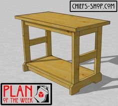 The Chief's Shop Basic Workbench is a solid all-purpose bench. It's nothing fancy, but it'll add some room for your small projects, plus a bit of storage on the bottom shelf. A miter saw, circular .