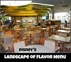 Landscape of Flavor Menu at Art of Animation Resort #DisneyDining #resort