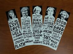 Author Bookmarks Set of 5 by RyanSheffield on Etsy