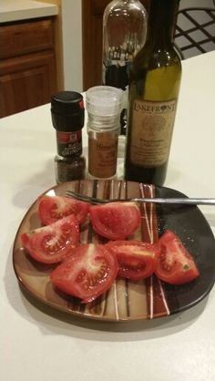 Tomatoes from a local Farmer's Market... drizzled with white coconut balsamic vinegar, pink Himalayan salt & fresh ground pepper. Yumified