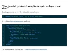 twitter-bootstrap-on-rails  #bootstrap #examples How Do I Get, Let It Be, Get Started, Coding, Learning, Twitter, Studying, Teaching, Programming
