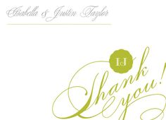 Matching Wedding Thank You Cards to send to your Bridesmaids - Sweet Love