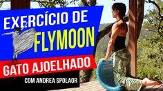 """Exercício de Flymoon inspirado no """"Gato Arrepiado"""" do Pilates"""