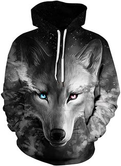 Amazing offer on ppqq Unisex Wolf Realistic Digital Print Pullover Hoodie Hooded Sweatshirt online - Topselectsclothing Sport Pullover, Pullover Hoodie, Fleece Hoodie, Trendy Hoodies, Cool Hoodies, Hoodie Allen, Hoodie Sweatshirts, Sweat Shirt, Animaux