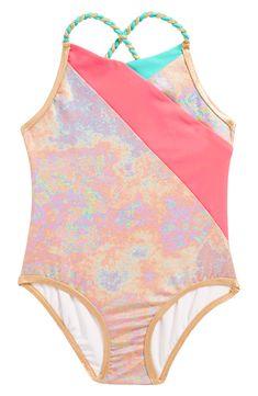 e74ff4a881 New LITTLE MARC JACOBS Iridescent One-Piece Swimsuit (Toddler Girls, Little  Girls Big