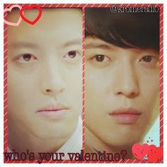 Kim Shin vs Se Joo. Who would you choose as your valentine? #KromeValentine #yonghwa #jungyonghwa #leedonggun #valentine #vday #love #marryhimifyoudare #kdrama #kpop #cnblue #mirae #date  @KromeRadio kromeradio.blogspot.com