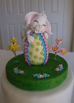 Gumpaste Easter rabbit — 3D Figures