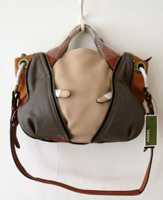 fa7d3a1663 orYANY SAND Pebble Leather Color-Block Lian Satchel Handbag Purse  356 SO  COOL