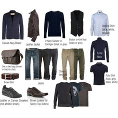 """Men's Basic Casual Wardrobe"" by senseationalliving on Polyvore"