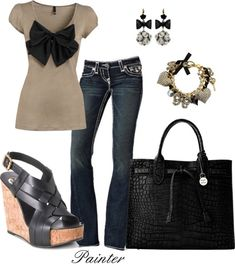 """""""Sophisticated Bows"""" by mels777 on Polyvore"""