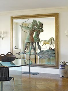 Jerry Lauren purchased the American Indian weathervane from sale of the Josephine Ford estate (Ford Motor Co.) for a record price for an American weathervane.  The vane sat atop Josephine's Grosse Pointe Farms, MI home.