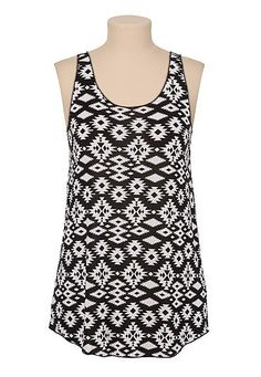 Contrast tribal print racerback tank - maurices.com