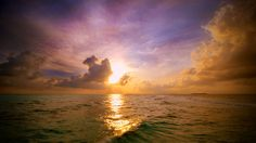 Glowing sunset behind the Cumulus congestus cloud Widescreen Nature Wallpaper Sunset Wallpaper, Nature Wallpaper, 1080p Wallpaper, Beautiful Ocean, Beautiful World, House Beautiful, Amazing Nature, Beautiful Places, Goombay Dance Band