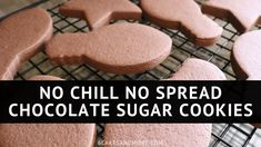 No Chill No Spread Chocolate Sugar Cookies ~ 6 Cakes & More, LLC These Chocolate Sugar Cookies are delicious and taste like brownies! You can use my easily Customizable Perfect Royal Icing to finish these off! Butter Sugar Cookies, Cinnamon Sugar Cookies, Chocolate Sugar Cookies, Best Sugar Cookies, Sugar Cookies Recipe, Chocolate Chocolate, Cut Out Cookie Recipe, Cut Out Cookies, Cookie Flavors