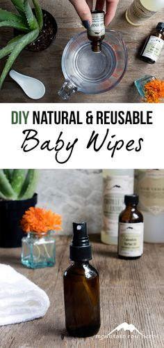 DIY Natural & Reusable Baby Wipes: This washable baby wipe formula is not only cleansing and hydrating, it's also an earth friendly alternative to throw away wipes. Plus it makes a great gift for new or expecting mamas! Galaxy Slime, Organic Baby Wipes, Feminine Wipes, Organic Homemade, Baby Food Containers, Do It Yourself Baby, Thing 1, Natural Baby, Natural Skin