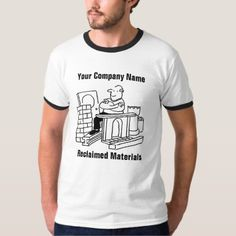 Reclaimed Building Materials Cartoon T-Shirt - construction business diy customize personalize