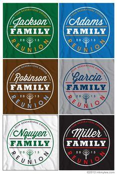 More Free Family Reunion T-shirt Design Options