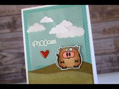 ▶ Creating A Scene Card with Paper Smooches - Make It Monday #19 - YouTube