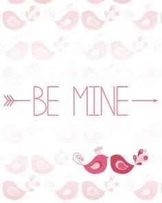 Designs By Miss Mandee– Free Valentine's Day Printables! #DIY #love #bemine