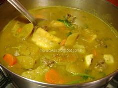 """Salcocho (known as """"Sancocho"""" between Dominicans), is typical and representative of the Dominican Republic, almost always prepared on special occasions, holidays or on those rainy days and cold on the island. Traditional sancocho is made of beef, however the sancocho of seven meats is the deluxe version, accompanied by food (victuals) such as plantain, yucca, yam, etc."""