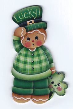 Lucky Little Gingerbread Painting E-Pattern by GingerbreadCuties