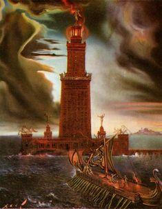 The Lighthouse at Alexandria, 1954, Salvador Dali