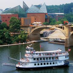 Chattanooga, TN. There is a nice aquarium and a beautiful recreation area near the water.